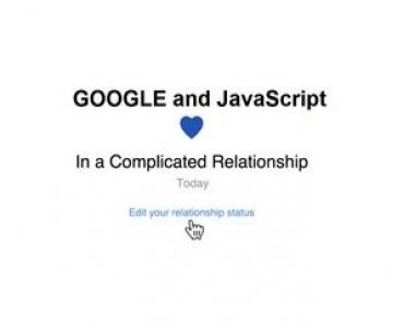 JavaScript'o ir Google draugystė